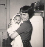 Baby Miriam with mother Gwenn (1955)