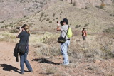Allison Czapp, Chris Diaz, and Ben Shendo at Organ Mountains