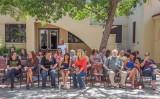 gathering for the graduation celebration