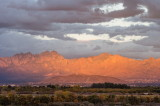 Organ Mountains from our house on the opposite side of the Mesilla Valley