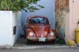 The original VW Beetle is seen all over Oaxaca