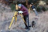 New Mexico State University archaeology mapping class surveying Dripping Springs Historical Structures