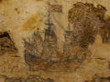 Galleon Drawing - San Cristobol