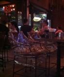Viva Monsson Tapas bar in Soi 8 is well prepared for a wet Songkran evening