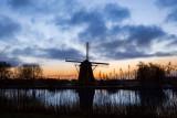 Langs de Amstel even voor zonsopgang