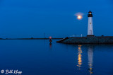 Moon over Discovery Bay Lighthouse  5