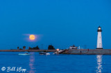 Super Full Moon over Discovery Bay Lighthouse  8