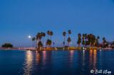 Moon over Discovery Bay Marina  1