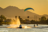 Powered Paragliding Sunset  17
