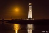 Harvest Moon Over Lighthouse  1