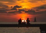 Higgs Beach Pier Sunset  3