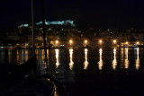 Harbour by night..