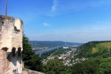 View from Marksburg Castle to the Rhine River