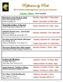2013 Fall / Winter Art Festival schedule