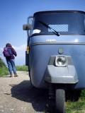 Passing a three-wheeled car