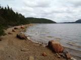 Stony shoreline
