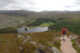 Hiking towards Loch Gynack