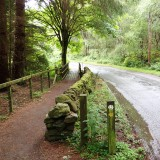 Footpath and road