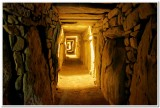 Inside Megalithic Passage Tomb, Knowth, Ireland