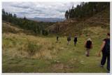 Hiking between the ruins above Cusco