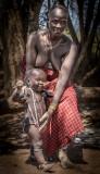 Mursi Woman and Baby