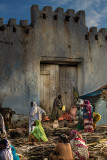 Market outside walls of ancient city of Harar