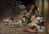 Woman selling goods in Harar
