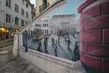 Rossio Railway Station Square graffiti