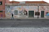 Campo das Cebolas, José Saramago and Pilar graffiti
