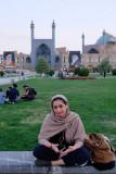 Esfahan, young beauty at Nasqh-e Jahan Square
