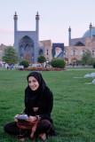 Esfahan, student at Nasqh-e Jahan Square
