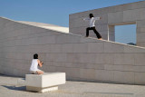 Yoga photo session at Champalimaud Foundation