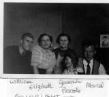 William,Elisabeth,Germaine,Pascale,Marcel et Donald au fond photo sur le mur