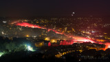 Lewes High St looking like molten lava