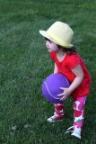 Ready to toss the ball to Lucy