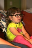 Checking out Grandmom's glasses