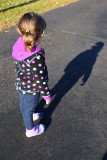 Fascinated by her shadow