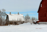 Fresh snow always makes everything look refreshing and cold. And it makes for a cold tractor ride if you don't have one with a cab!