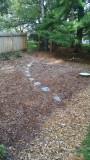 New garden bed on NE side of yard