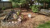 Landscaping around Overlook Falls