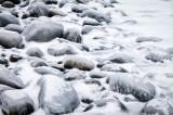 Glazed beach rocks