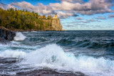 Split Rock lighthouse, waves 2