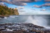 Split Rock lighthouse, waves 3