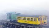 Cog railway at the summit of MT. Washington.