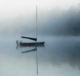 Lake Wentworth in the  in early morning mist