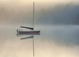 Lake Wentworth in the  in early morning mist Version 2