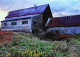 The old barn in Ossipee. Fuji film similutation Velvia Vivid