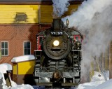 Steam in the snow -11 degrees.