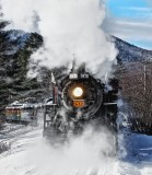 Steam in the Snow. North Conway NH.