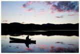 Enjoying a quiet evening on the pond